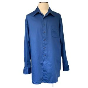 George Satee Men's Size 2XL Long Sleeve Button